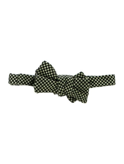 Charvet Silk Polka Dot Bow-Tie black