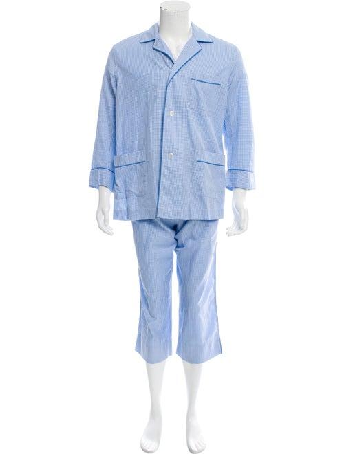 Charvet Gingham Pajama Set blue