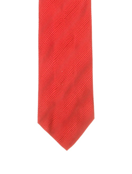 Charvet Patterned Silk Tie red