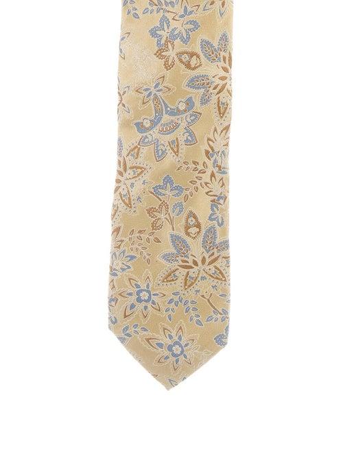 Charvet Jacquard Silk Tie yellow