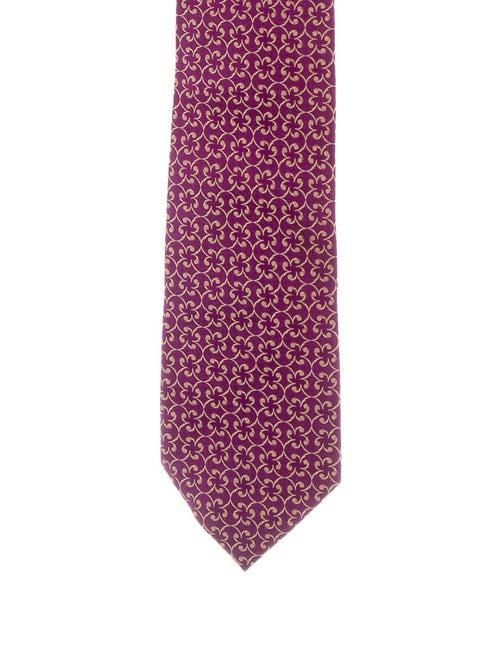 Charvet Jacquard Silk Tie violet