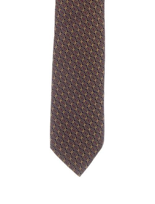Charvet Jacquard Silk Tie blue