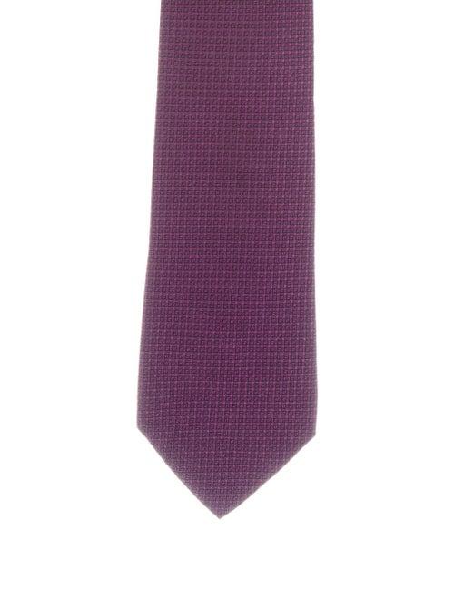 Charvet Silk Printed Tie purple