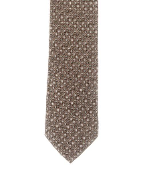 Charvet Patterned Silk Tie brown