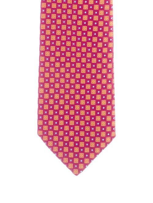 Charvet Patterned Silk Tie fuchsia