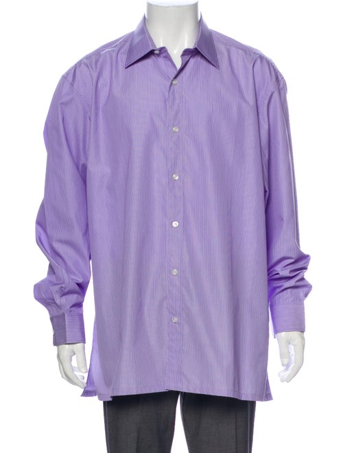 Charvet Striped Long Sleeve Shirt Purple