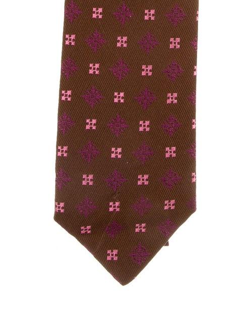 Charvet Silk Patterned Tie w/ Tags brown