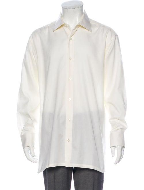 Charvet Long Sleeve Dress Shirt Yellow