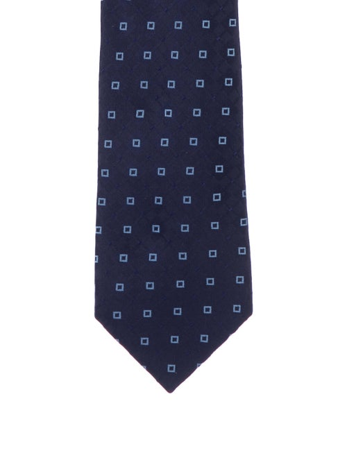 Charvet Pattern Silk Tie blue