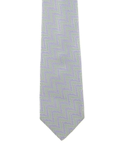 Charvet Silk Tie purple