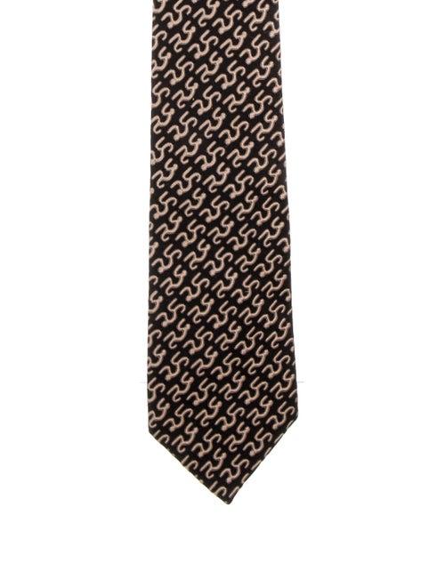 Charvet Charvet Silk Pattern Tie black