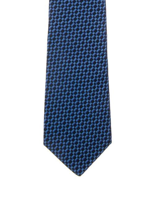 Charvet Silk Jacquard Tie blue