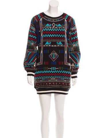 Christophe Sauvat Embroidered Knit Dress None