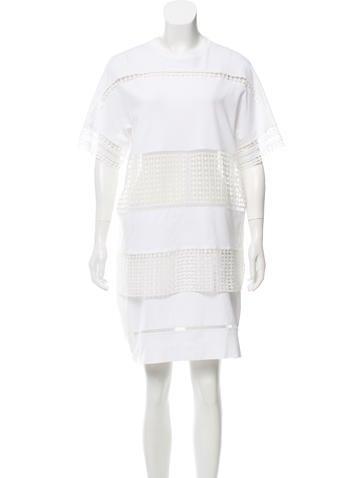 Chloe White Wardrobe Layered Mini Dress None