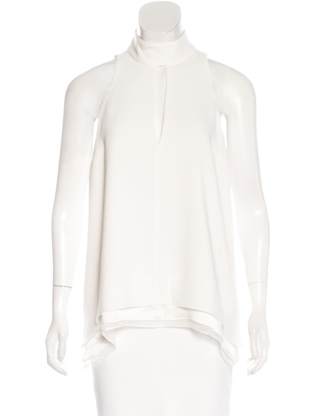 Cinq Sept Mock Neck Sleeveless Top Clothing