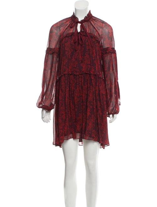 Cinq à Sept Silk Mini Dress Red