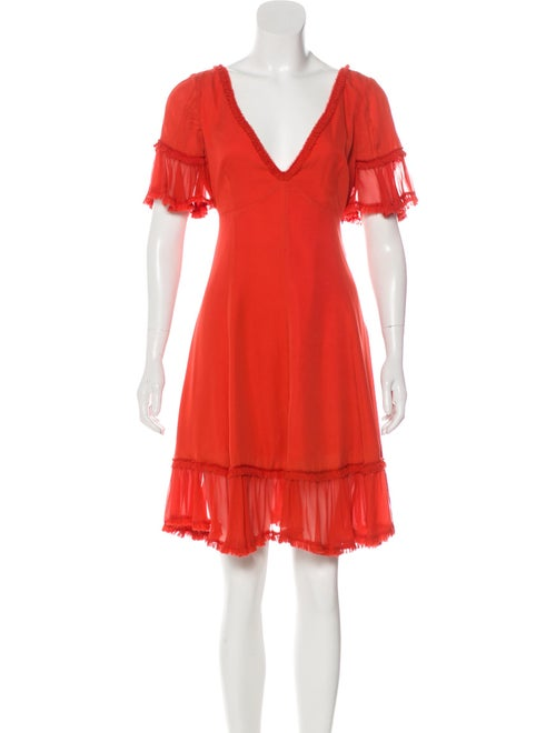 Cinq à Sept Silk Mini Dress Orange