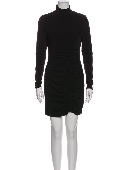 Cinq à Sept Turtleneck Mini Dress Black