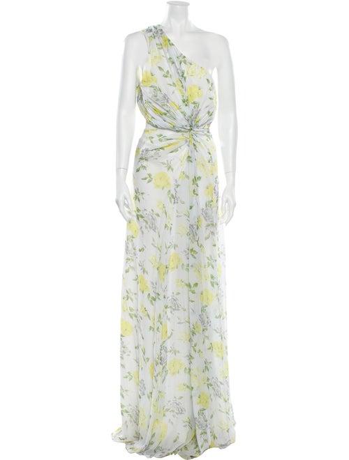 Cinq à Sept Silk Long Dress White