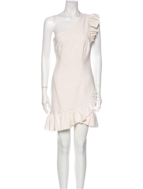 Cinq à Sept One-Shoulder Mini Dress White