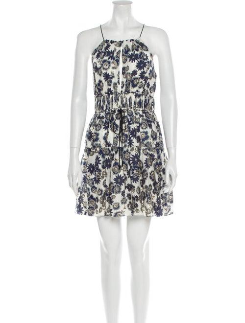 Cinq à Sept Silk Mini Dress White