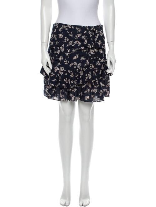 Cinq à Sept Silk Mini Skirt Blue