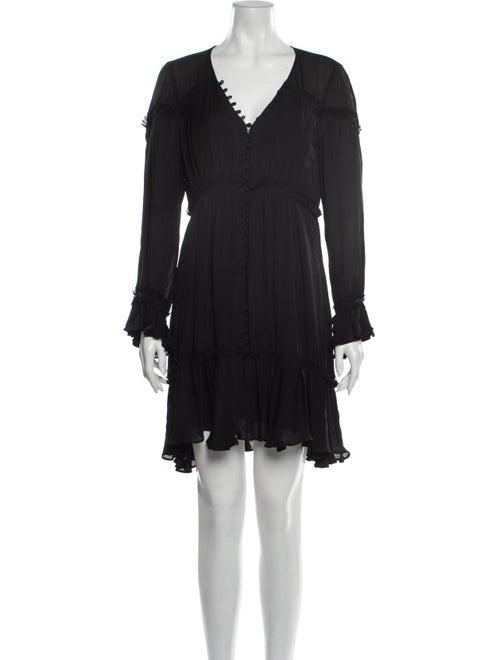 Cinq à Sept Silk Mini Dress Black