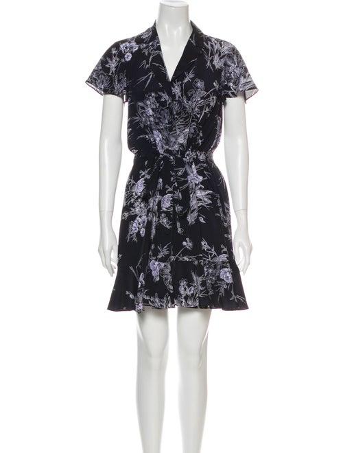 Cinq à Sept Silk Mini Dress Blue