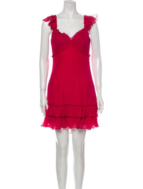 Cinq à Sept Silk Mini Dress Pink