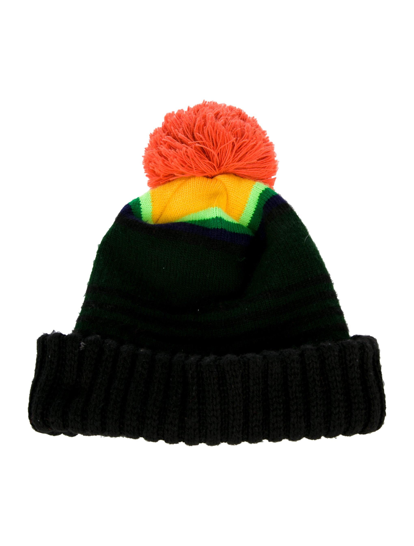 84757eb04 Greg Bourdy Pom Pom Knit Beanies