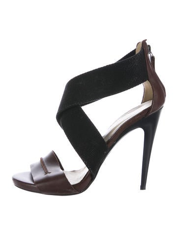 C'N'C Costume National Leather Cutout Sandals good selling for sale 2KOR556I