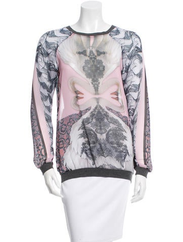 Clover Canyon Printed Long Sleeve Top None