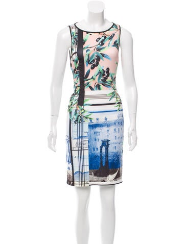 Clover Canyon Printed Bodycon Dress