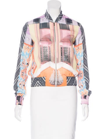 Clover Canyon Abstract Print Bomber Jacket None