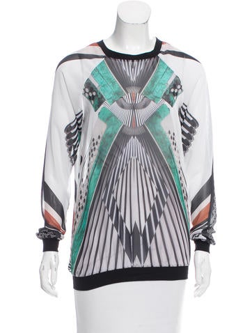 Clover Canyon Printed Chiffon Top None
