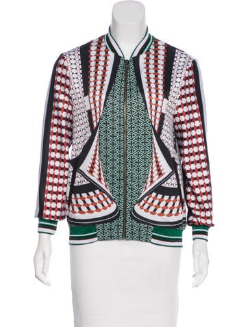 Clover Canyon Digital Print Zip-Up Jacket None