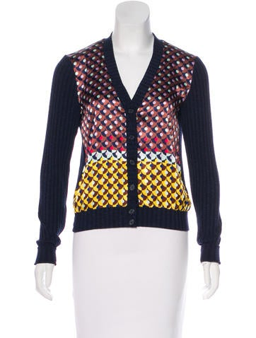 Clover Canyon Mixed Print Knit Cardigan None