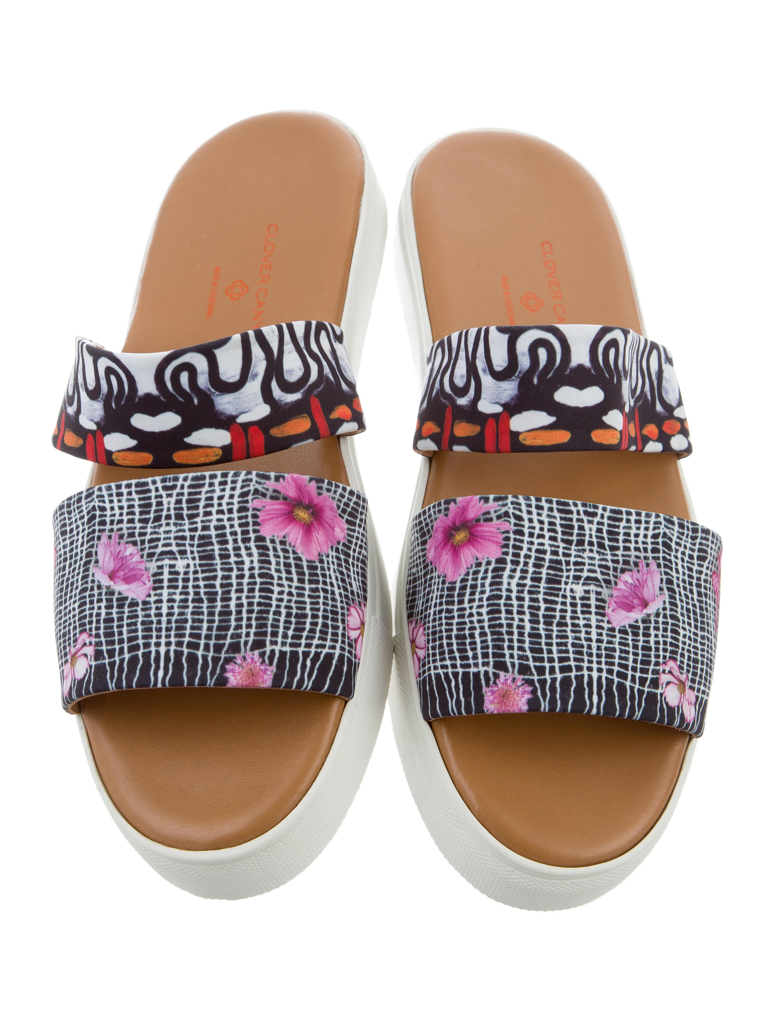 affordable cheap online Clover Canyon Floral Slide Sandals w/ Tags cheap ebay discount limited edition sale for nice largest supplier siGfPy25