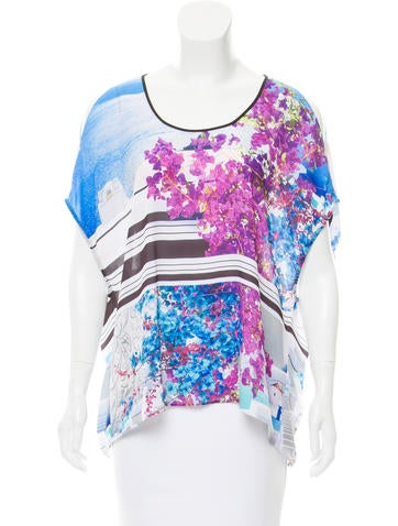 Clover Canyon Digital Print Cutout Top None