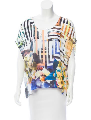 Clover Canyon Printed Sleeveless Top None