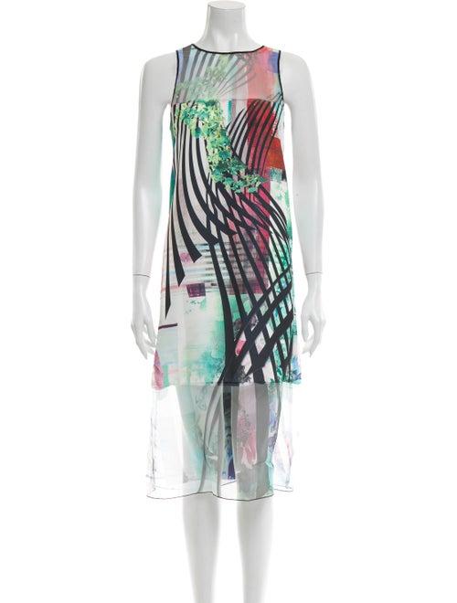 Clover Canyon Printed Mini Dress Green