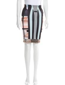 Clover Canyon Printed Knee-Length Skirt