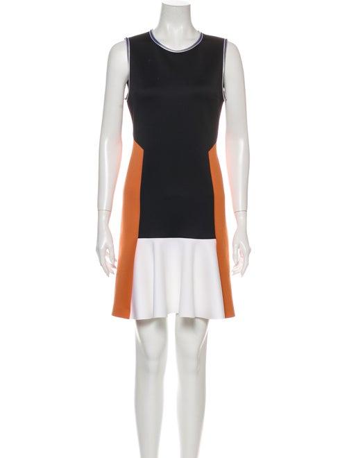 Clover Canyon Colorblock Pattern Mini Dress Black