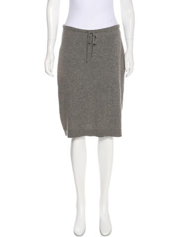 Club Monaco Cashmere Knee-Length Skirt None