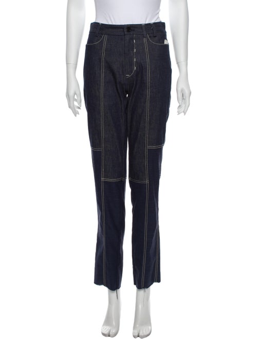 Colovos High-Rise Flared Jeans Blue