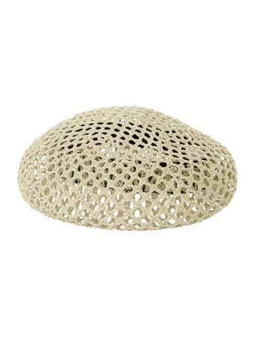 Clyde Straw Net Newsboy Hat