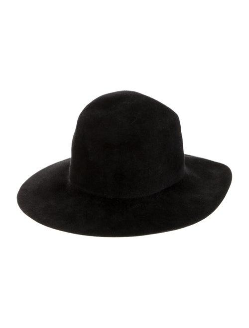 Clyde Felt Fedora Hat Black