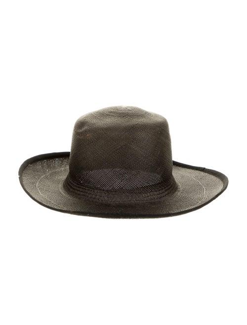 Clyde Straw Wide Brim Hat Black - image 1