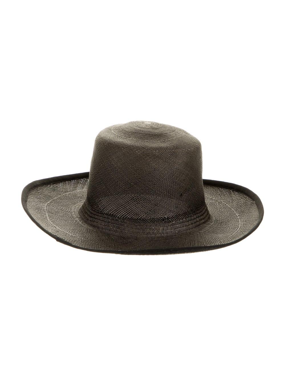 Clyde Straw Wide Brim Hat Black - image 2