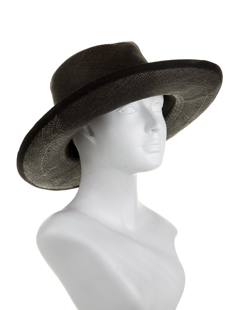Clyde Straw Wide Brim Hat Black - image 3